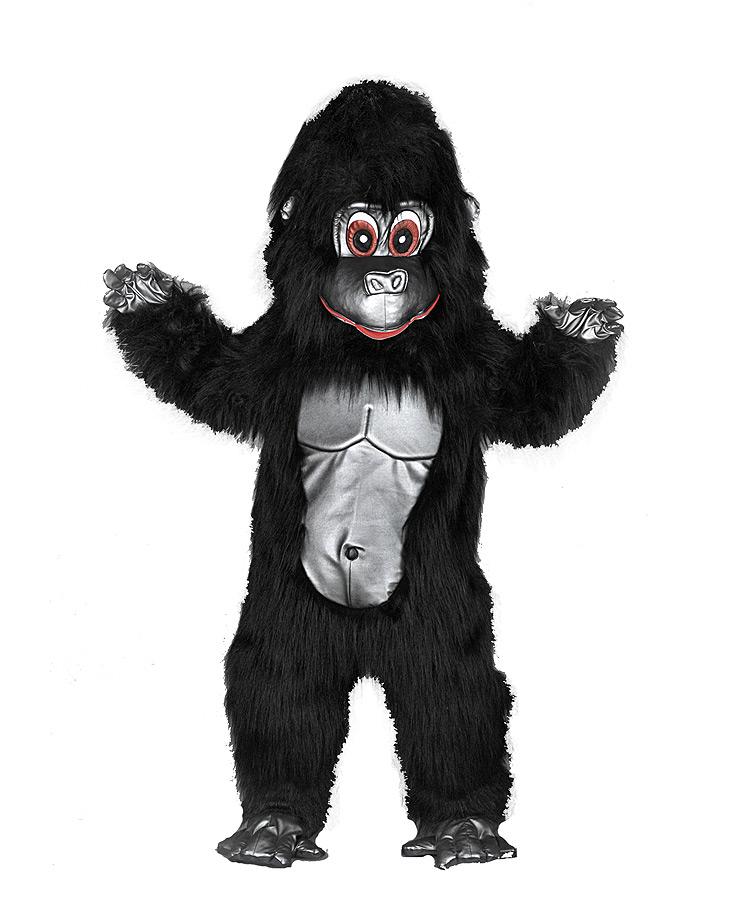 """unser tolles """"gorilla maskottchen kostüm"""" 185a"""