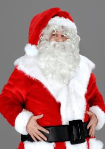 Nikolaus Weihnachten Weihnachtsmann Maskottchen Lauffiguren Kostüme. Produktion Herstellung Professionell bei www.Maskottchen-shop.de