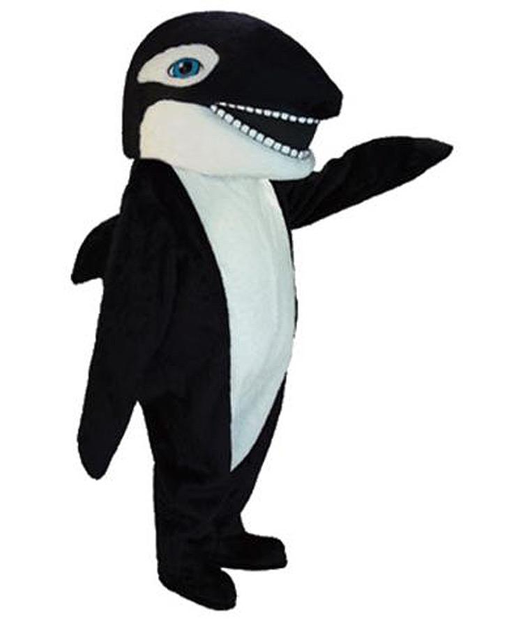 Orca Wal Kostüm als Maskottchen oder Messe Promotion Lauffigur