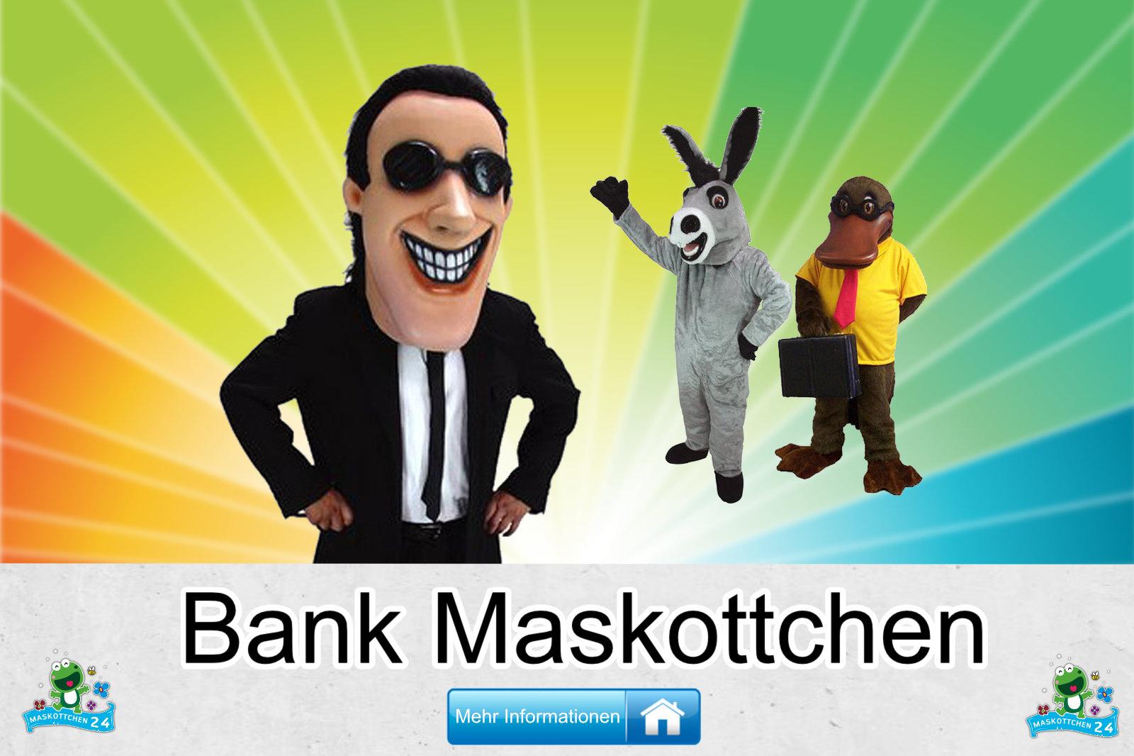 Bank Maskottchen Kostüm Produktion günstig kaufen