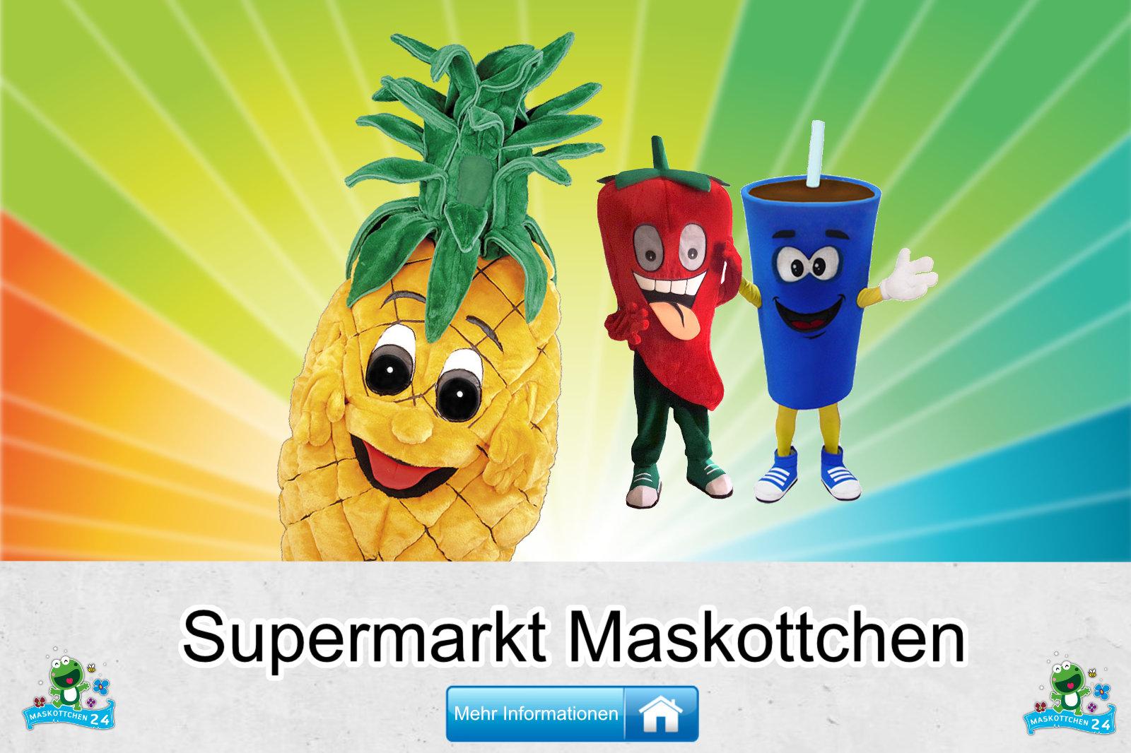 Supermarkt Kostüme Maskottchen Herstellung Firma günstig kaufen
