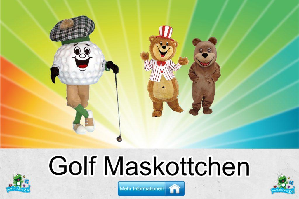 Golfplatz Kostüme Maskottchen Karneval Produktion Firma Bau